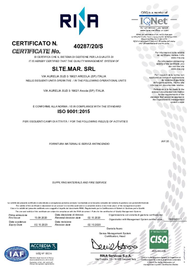 ISO 9001 / 2015